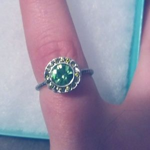 Kate Spade Green Sparkle Ring